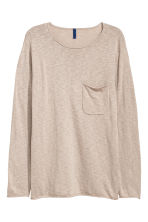 Fine-knit jumper - Light mole -  | H&M GB 2