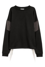 Sweatshirt with ball chains - Black - Ladies | H&M 2