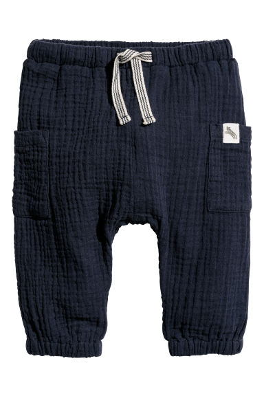 Cotton trousers - Dark blue - Kids | H&M CN