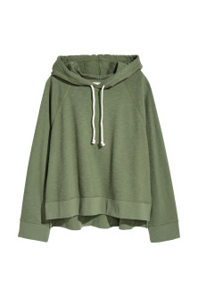 Wide hooded top