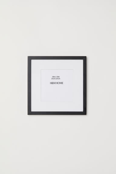 Wooden frame 25x25 cm - Black - Home All | H&M CN
