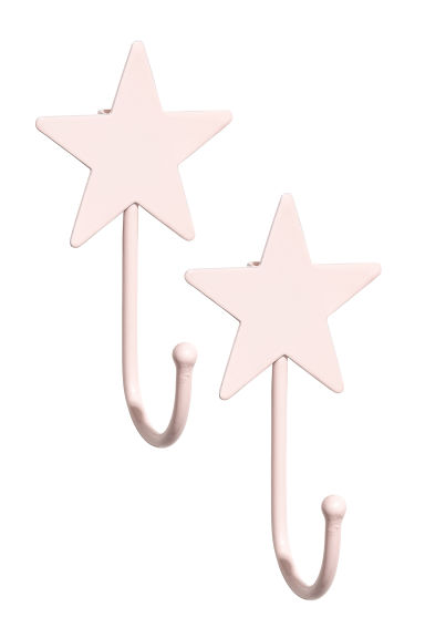 2-pack hooks - Pink - Home All | H&M CN