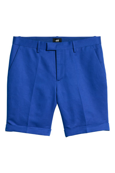 Linen-blend city shorts - Bright blue - Men | H&M
