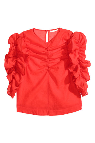 Georgette blouse - Bright red - Ladies | H&M