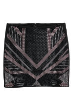 Skirt with studs - Black - Ladies | H&M CN 2