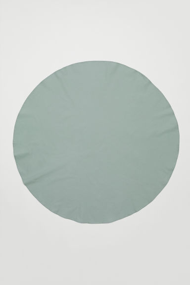 Round cotton tablecloth - Dusky green - Home All | H&M CN