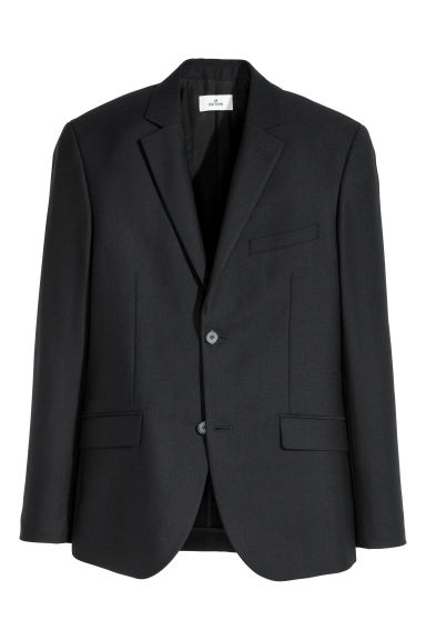 Wool twill jacket - Dark blue - Men | H&M IE