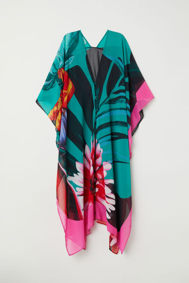 Patterned kaftan - Green/Patterned - Ladies | H&M CN