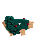 Jacquard-knit dog jumper - Dark green/Christmas tree - Ladies | H&M IE 1