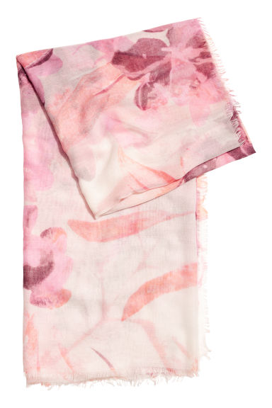 Airy scarf - Light pink - Ladies | H&M CN