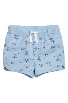 Patterned cotton shorts