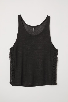Lace-trimmed Tank Top