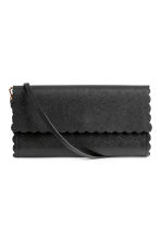 Scallop-edged clutch bag - Black - Ladies | H&M IE 1