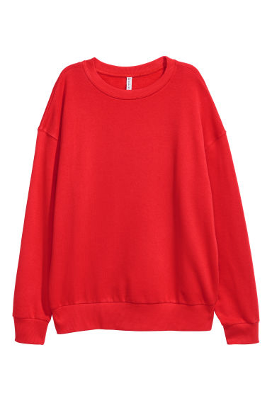 Oversized sweatshirt - Bright red - Ladies | H&M IE