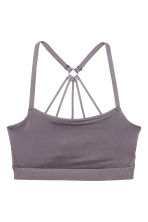 Sports bra Low support - Mole - Ladies | H&M 3