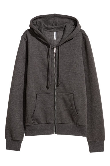 Hooded jacket - Dark grey -  | H&M