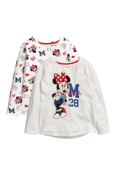2-pack long-sleeved tops - Grey/Minnie Mouse -  | H&M 1