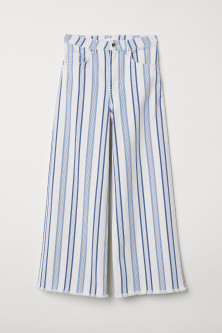 Ankle-length twill trousers