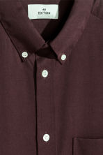 Lyocell shirt - Burgundy - Men | H&M CN 4