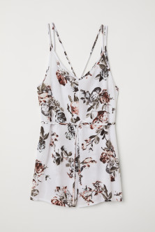 Crinkled playsuit