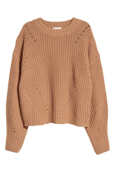 Knitted jumper - Beige -  | H&M CN