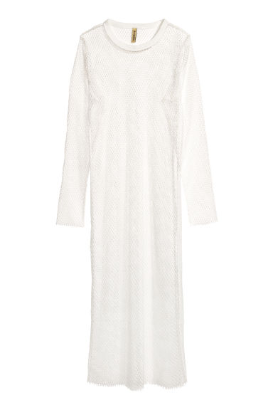 Mesh dress - White - Ladies | H&M
