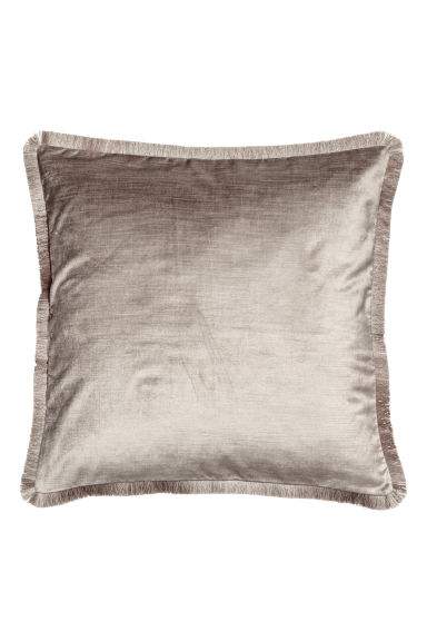 Fringe-trimmed cushion cover - Silver-coloured - Home All | H&M GB 1