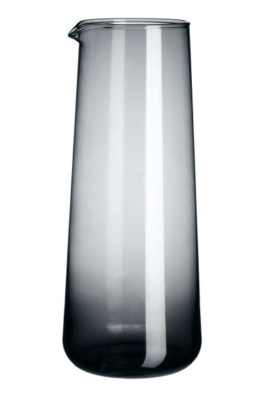 Glass carafe - Anthracite grey - Home All | H&M CN 1
