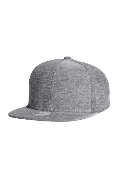 Cotton-blend cap - Grey - Men | H&M GB