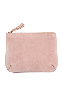 Small suede purse