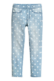 Legging en denim à motif