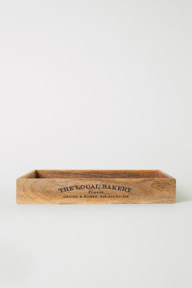 Rectangular wooden tray - Natural - Home All | H&M IE