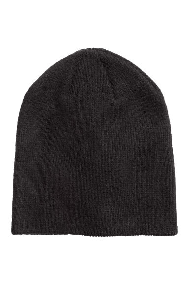 Rib-knit hat - Black - Ladies | H&M