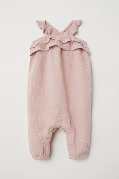 Cotton romper suit - Old rose -  | H&M CN