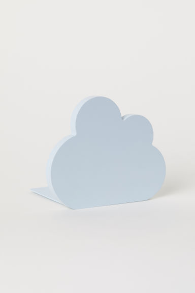 Wood and metal bookend - Light blue/Cloud -  | H&M CN