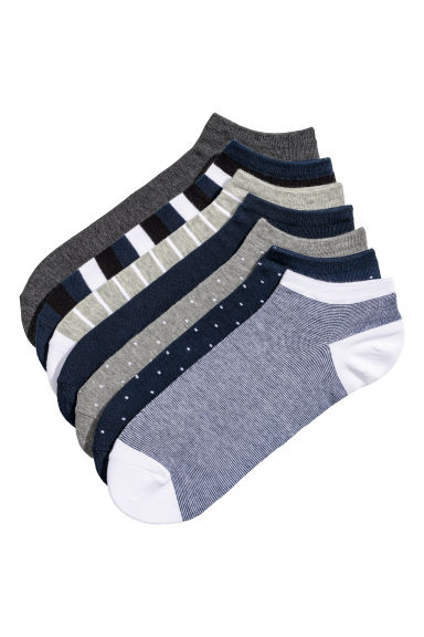 7-pack trainer socks - Dark blue/Multicoloured - Men | H&M
