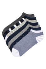 7-pack trainer socks - Dark blue/Multicoloured - Men | H&M GB 1