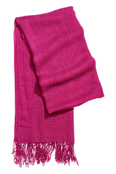 Woven scarf - Magenta -  | H&M CN