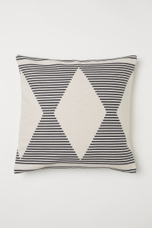 Patterned cotton cushion cover
