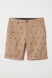 Knee-length Cotton Shorts