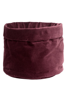 Velvet storage basket