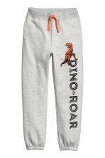 Printed joggers - Light grey - Kids | H&M CN 1