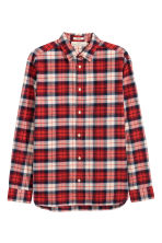 Flannel shirt Regular fit - Red/Checked - Men | H&M 2