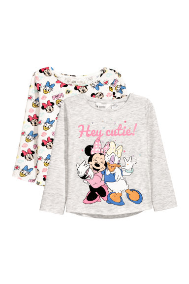 Tops, lot de 2 - Gris clair/Minnie - ENFANT | H&M BE
