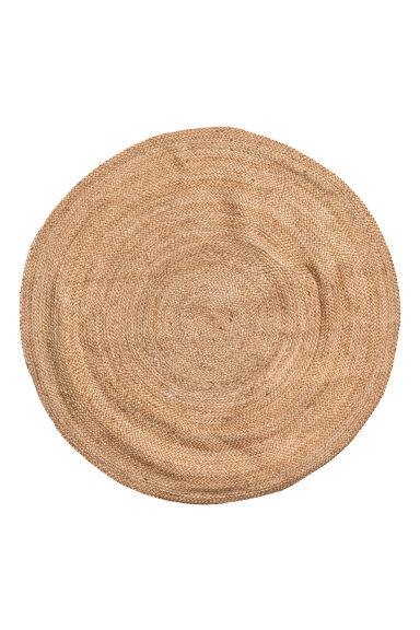 round jute rug beige h m gb. Black Bedroom Furniture Sets. Home Design Ideas
