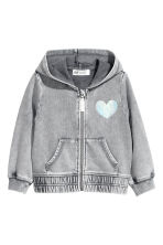 Printed hooded jacket - Grey - Kids | H&M CN 2