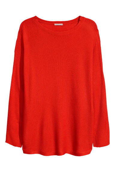H&M+ Knitted jumper - Red - Ladies | H&M GB