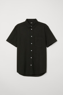 Linen-blend shirt Slim fit