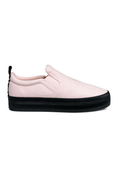 Slip-on trainers - Light pink - Ladies | H&M CN