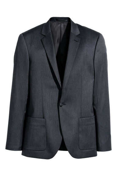 Textured jacket Slim fit - Black marl -  | H&M CN